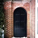Black Arch Door